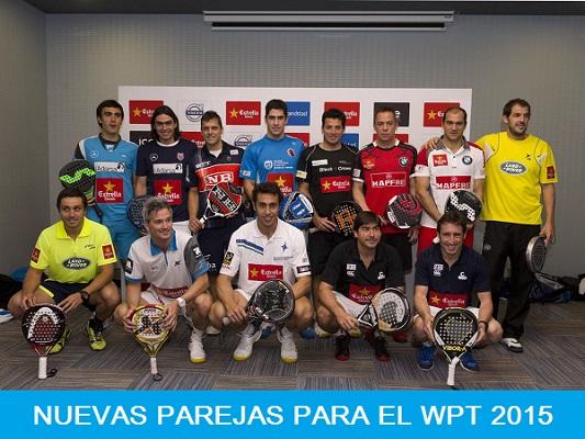 Nuevas Parejas en el World Padel Tour 2015
